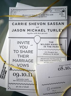 design work life » Dan Blackman: Turley Wedding Invites #faire part mariage