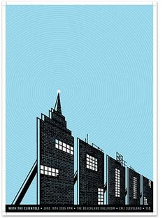 FFFFOUND! | Mikey Burton / Graphic Design, Illustration and Letterpress #spoon #gig #building #poster
