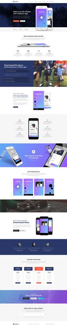 LeadGen #Marketing #Landing Page -APP Launching, buy - https://goo.gl/KD0bMP