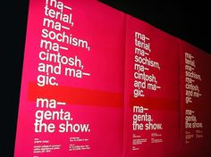 magentaposters.jpg (600×450) #modernism #grotesk #akzidenz #typography