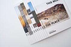 Jerwood - This Must Be The Place | THIS IS Studio #design #graphic #book #cover #editorial
