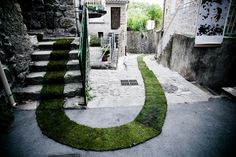 - STREET ART UTOPIA #grass #turf #france #alleyway #design #path #carpet #art #street