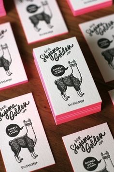 great business cards #llama #business #card #print #design #graphic #letterpress