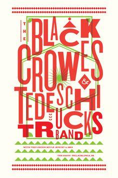 Black Crowes Shawn Hileman #screenprint #stollenwerk #ralph #poster #masthead