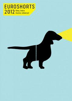 Plakat 21.edycji Euroshorts #promotion #poster #blue #film #dog #movie #black #festival #short #silouette #euroshorts