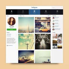 instagram, social network, UI, web