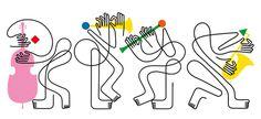 Harvard mag-Pompidou-Jazz festival and many more line, Jonathan Calugi #illustration