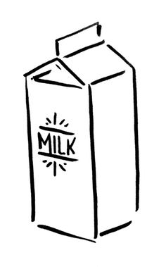 Michael T. Carey - Domestic doodle #milk #domestic #illustration #kitchen