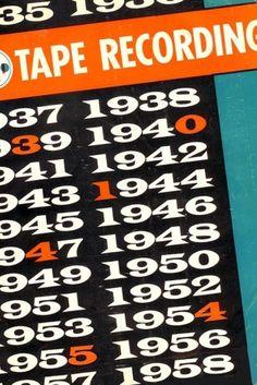 Monoscope #numbers #vintage #typography