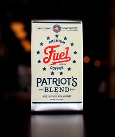 Patriot.jpg #packaging #logo #coffee #typography