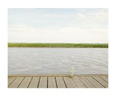 jetty, pole, water, grass, river, bank, sky, tranquil, horizon