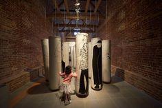 Julio Le Parc #julio #punching #installation #parc #illustration #bags #le
