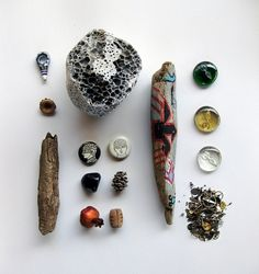 objects / nature / inspirations / 1 on the Behance Network #stone #beads #symbols #glass #wood #nature #anatolian #drift #organized