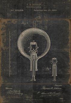 Vintage Light Bulbe #illustration