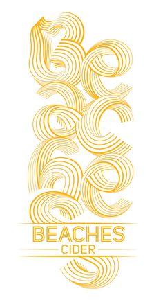 Beaches Cider Branding #steve #cider #hanzic #logo #typography