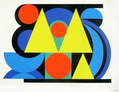 Auguste-Herbin-Alphabet-Plastique-II-c1950-lith-unknown.jpg (JPEG Image, 1368 × 1069 pixels) #triangle #color #herbin #painting