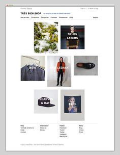Très Bien Shop #design #website #store #layout #web