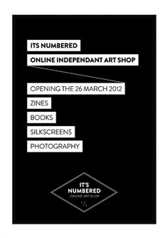 It's Numbered - Le journal #shop #print #books #posters