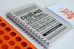 ILUSTRA Notebook 2013 #print #design #friendly #eco #notebook #peru #typography