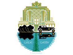 West Egg #chris #baker #gatsby #illustration #art #deco #great