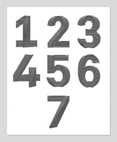 Duintjer / Signage on the Behance Network #numbers #number #typography