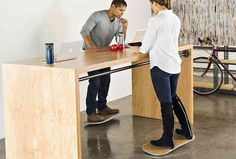 The Level allows you to enjoy the benefits of standing, walking and surfing all while working at your stand desk. #modern #design #product #industrial #innovative