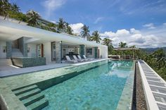 Contemporary Holiday Villa in Koh Samui Offering Spectacular Coastal Views of Thailand #house #infinity #contemporary #pool #architecture #holiday #villa