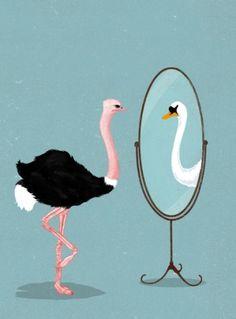 Sara Lindholm - elilustrado: Mirror - Carlo Giambarresi #mirror #swan #carlo #giambarresi