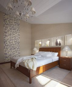 Artistic and luxury bedroom