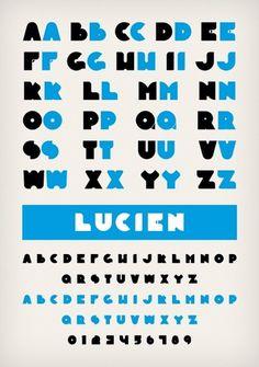 Novo Typo - Lucien - Type specimen #novo #design #typeface #typo #typography