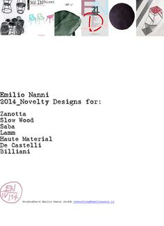 Novelty Emilio Nanni 2014 #comunication #design #graphic #2014 #emilionanni