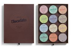 CHOCOLATES WITH ATTITUDE 2012 Bessermachen #packaging #chocolate #typography