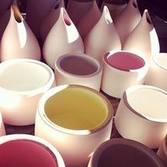 marcelina_ceramics unfired pieces. best lighting #mute #ceramics #color #craft #light