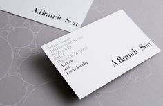 A. Brandt + Son #stationary #print #identity #branding