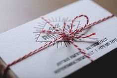 Wedding photographer business card | Elegante Press #letteerpress #card #business