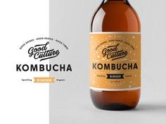 Kombucha branding by Alex Spenser