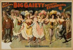 Posters for Burlesque Shows, 1890s | Retronaut #1890s #shows #posters #for #burlesque