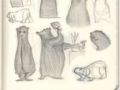 More Bear Sketches #sketchpad #illustration #bears #bear #pencil