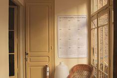 octagon design, wall calendar a0