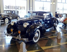"""carnutzphoto: """" 1937 Cord 812 Coupe Taken at the Auburn-Cord-Duesenberg Museum in Auburn, Indiana. October 2014. There were approximately 3,000 1936 & 1937 Cords built, but only three of them were coupes and only one of them was built like this one...."""