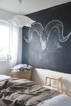 Blackboard walls = regular new art.