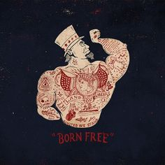 Jon Contino, Alphastructaesthetitologist #liberty #red #cream #of #free #land #born #drawn #type #hand