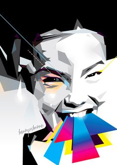 Bjork #vector #henryosborne #design #illustration #art