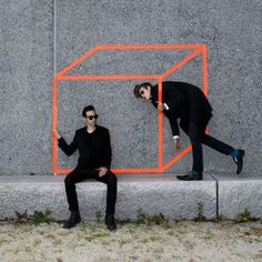 Tumblr #optical #geometry #illusion #orange #fashion #neon