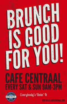Brunch Is Good For You! By Rev Pop #brunch #milwaukee #pop #design #graphic #restaurant #starr #poster #rev #scott