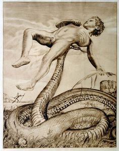 boy-with-snake-1912.jpg (JPEG Image, 450 × 572 pixels) #illustration #art #snake