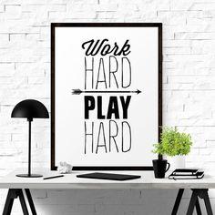 Work Hard Play Hard #iloveprintable