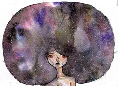 Amber Seegmiller | Art Sponge #universe #seegmiller #illustration #painting #amber #watercolor