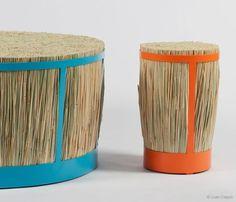 Halmpall stools