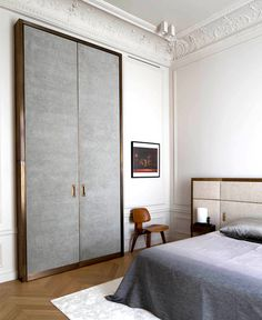 Spectacular Paris Apartment by Rodolphe Parente - bedroom, bedroom design, bed, bedroom decorating, #bedroom